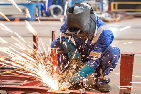 Welding works inside a workshop at NDSQ