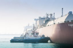 NSW tugboat assisting LNG carrier at Ras Laffan Port