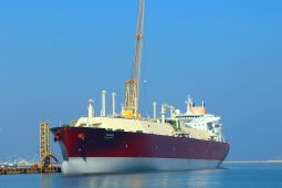 Q-Flex LNG carrier Duhail berthed at the Erhama Bin Jaber Al Jalahma Shipyard