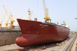 LPG carrier Umm Laqhab undergoing routine drydocking and maintenance